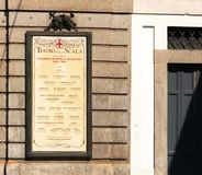 Teatro do La Scala, Milão, Itália fotografia de stock royalty free