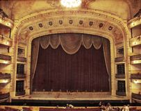 Teatro do vintage Imagem de Stock Royalty Free