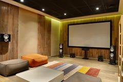 Teatro domestico interno fotografie stock