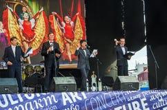 Teatro dos desempenhos de KVN de Dnipropetrovsk Universit nacional imagem de stock royalty free