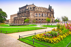 Teatro em Dresden Imagens de Stock Royalty Free