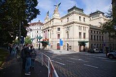 Teatro em Vinohrady em Praga Imagens de Stock Royalty Free