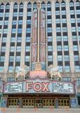 Teatro en Detroit, MI del Fox Imágenes de archivo libres de regalías