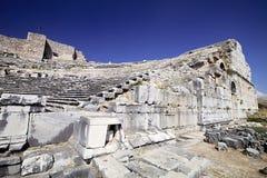 Teatro en Milet, Turkay Imagenes de archivo
