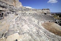 Teatro en Milet, Turkay Fotos de archivo