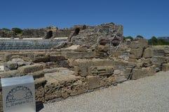 Teatro en Roman City Baelo Claudia Dating en del siglo II la playa A.C. de Bolonia en Tarifa Naturaleza, arquitectura, historia, imagenes de archivo