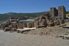 Teatro en Roman City Baelo Claudia Dating en del siglo II la playa A.C. de Bolonia en Tarifa Naturaleza, arquitectura, historia, fotos de archivo