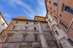 Teatro för Colonna dellaantico i Rome Arkivbilder