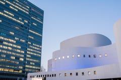 Teatro Front Architecture del punto di riferimento della città di Schauspielhaus dello sseldorf del ¼ di DÃ Immagini Stock