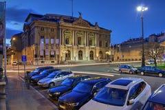 Teatro grande de Geneve, Suíça Imagens de Stock Royalty Free