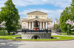 Teatro grande do teatro de Bolshoi em Moscou, Rússia foto de stock royalty free