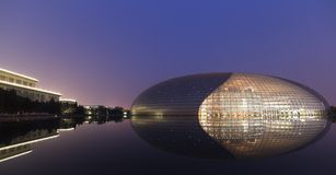 Teatro grande nacional de China com reflexão Fotos de Stock