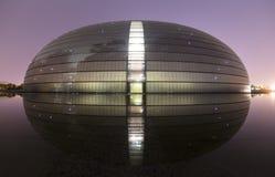 Teatro grande nacional de China com reflexão Imagem de Stock Royalty Free