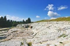 Teatro greco di Siracusa - la Sicilia Immagine Stock