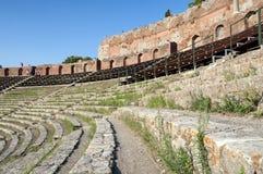 Teatro greco di Taormina, Sicilia, Italia Immagini Stock Libere da Diritti