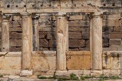 Teatro greco-romano antico in città antica Hierapolis vicino a Pamukkale, Turchia Immagini Stock Libere da Diritti