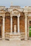 Teatro greco-romano antico in città antica Hierapolis vicino a Pamukkale, Turchia Fotografia Stock Libera da Diritti