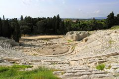 Teatro Greco in Syrakuse Stock Photography