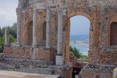 Teatro Greco Taormina, Sicily, Italy Stock Photography