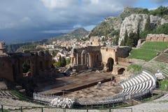 Teatro Greco Taormina, Sicily, Italy Royalty Free Stock Photos