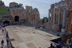 Teatro Greco Taormina, Sicily, Italy Royalty Free Stock Photos
