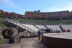 Teatro Greco Taormina, Sicily, Italy Royalty Free Stock Photo