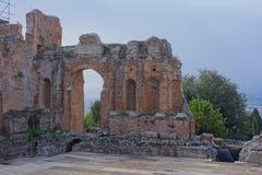 Teatro Greco Taormina, Sicily, Włochy Zdjęcie Royalty Free