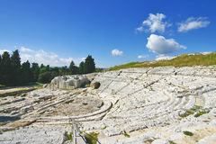 Teatro grego de Siracusa - Sicília Imagem de Stock