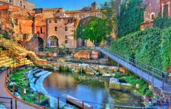 Teatro Grego-romano de Catania em Sicilia, Itália foto de stock royalty free