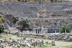 Teatro griego de Ephesus Imagen de archivo libre de regalías