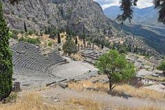 Teatro griego en Delphi, Grecia 2 Imagen de archivo libre de regalías