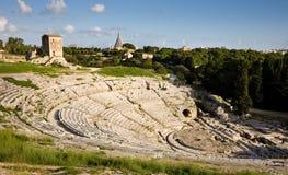 Teatro griego, Syracuse Foto de archivo libre de regalías