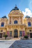 Teatro hermoso de una ciudad húngara famosa Pecs 27 08 Hungría 2018 foto de archivo libre de regalías