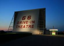 Teatro histórico del autocinema Fotografía de archivo libre de regalías