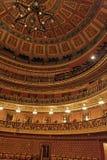 Teatro Juarez Auditorium Guanajuato. Detail of the main auditorium of Teatro Juarez theatre Stock Photos
