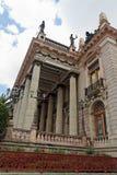 Teatro Juarez Guanajuato. The Teatro Juarez theatre facade with its columns and statues in the city of Guanajuato, colonial heartland of Mexico Royalty Free Stock Photo