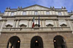 Teatro La Scala en Milano imágenes de archivo libres de regalías