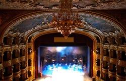 Teatro Luxuriant vazio Imagens de Stock