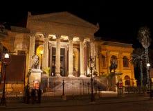 Teatro Máximo por noche. Palermo fotografía de archivo libre de regalías