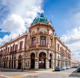 Teatro Macedonio Alcala - Oaxaca, Mexico Arkivbilder