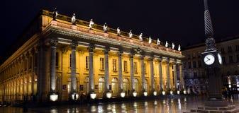 Teatro magnífico de Burdeos Fotografía de archivo libre de regalías