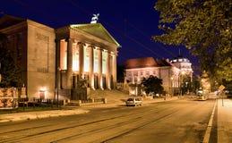 Teatro magnífico en Poznán, imagen de archivo libre de regalías