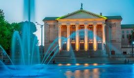 Teatro magnífico en Poznán, Polonia imagen de archivo