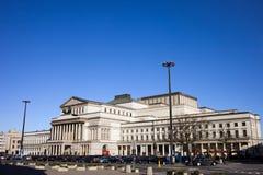 Teatro magnífico en Varsovia imagen de archivo libre de regalías