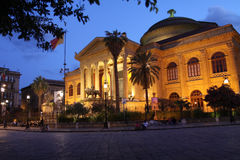 Teatro Massimo royalty free stock photography