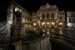Teatro Massimo Bellini na noite imagem de stock