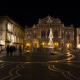 Teatro Massimo Bellini w Catania, Sicily, Włochy obraz royalty free