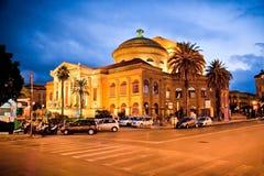 Teatro Massimo, operahus i Palermo italy Arkivbild
