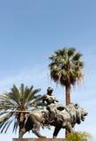 Teatro Massimo, Palermo, bronsleeuw Stock Afbeelding