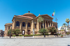 Teatro Massimo in Palermo. The famous Teatro Massimo in Palermo, one of Europes biggest theatres Stock Photos